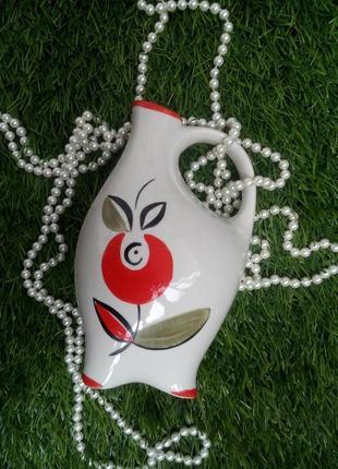 Куманец ссср полонное, 70-х годов, с ручной  роспись (ваза, кувшин, бутыль)