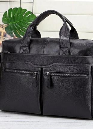 Кожаный мужской портфель из натуральной кожи чоловічий шкіряний сумка кожаная