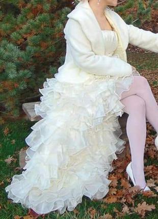 Свадебное платье, размер м 42-46