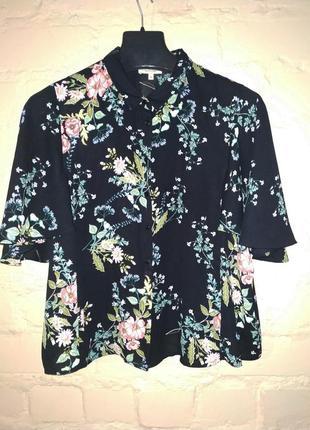 Рубашка с цветочным принтом papaya