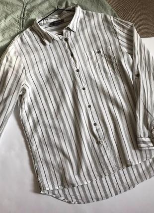 Рубашка белая в полоску primark