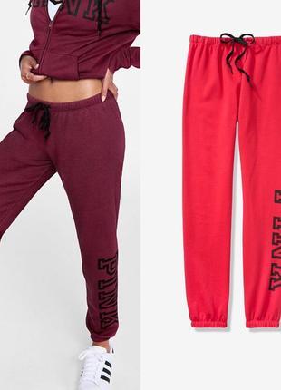 Pink victoria's secret штаны на флисе новые