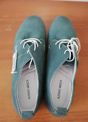 Мокасины кожаные на шнурках