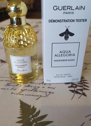 Guerlain aqua allegoria mandarine basilic тестер парфюмерии