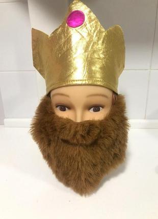 Король царь падишах вертеп костюм корона борода