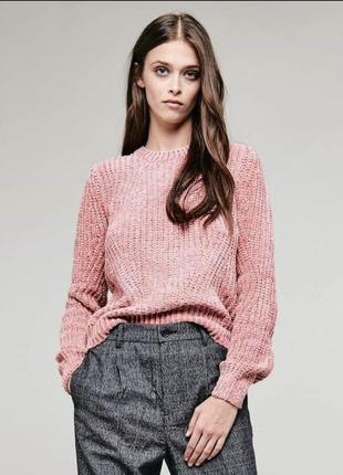 Новый велюровый свитер джемпер синель бархатный кофта bershka calliope
