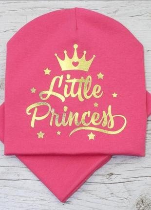 Комплект для девочки шапка и хомут little princess