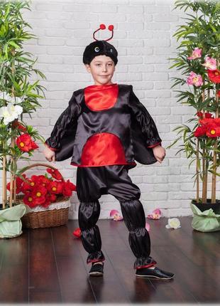 """Карнавальный костюм """"божья коровка"""" для мальчика"""