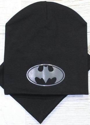 Шапка и снуд двойной комплект бэтмен batman