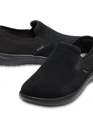 Слипоны, туфли крокс crocs reviva suede, m11, м12