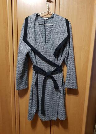 Пальто с запахом, большое пальто, тренч с поясом, кардиган, длинное пальто