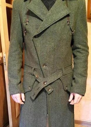 Новое демисезонное шерстяное мужское пальто итальянского бренда rare icone