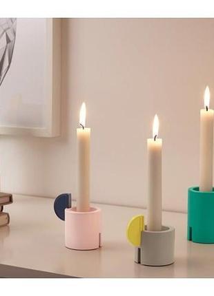 Ikea, adelhet, подсвечник, 3 шт., разные цвета (104.160.51)