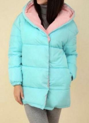 Куртка зефирка двухцветная