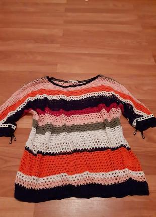 Летний вязаный свитер
