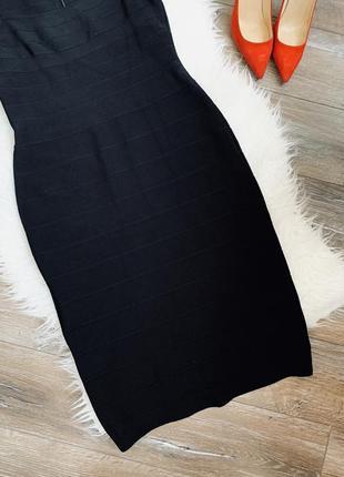 Эффектное бандажное платье миди3 фото