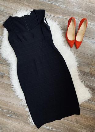 Эффектное бандажное платье миди6 фото