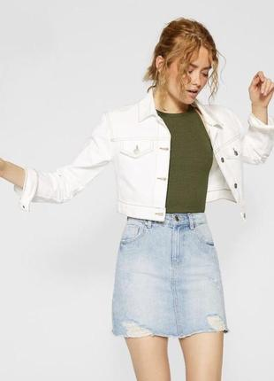 Новая джинсовая юбка stradivarius размер 34 xs