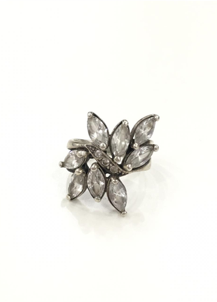 Серебро украина кольцо с фианитами 17,5