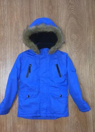 Красивая деми куртка, парка rebel, указано 6-7 лет