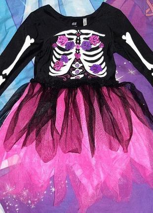 Карнавальное платье на хеллоуин 3-4 года.