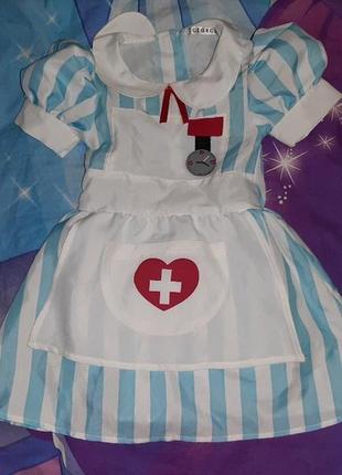 Карнавальное платье доктор, медсестра 3-4 года