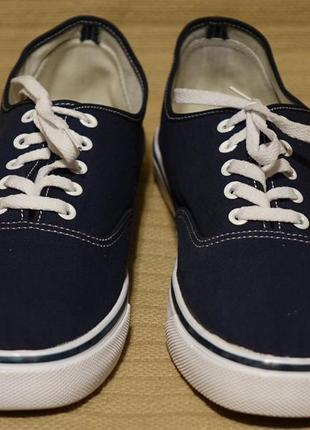 Низкие фирменные кеды темно-синего цвета vans сша 46 р.