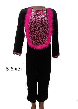 Карнавальный маскарадный костюм кошка кошечка