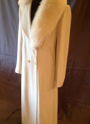 Пальто длинное натуральная шерсть teresa tardia италия