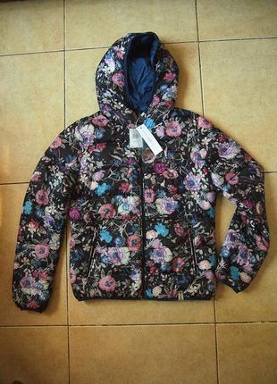 Куртка rinascimento м-l двусторонняя цветы деми