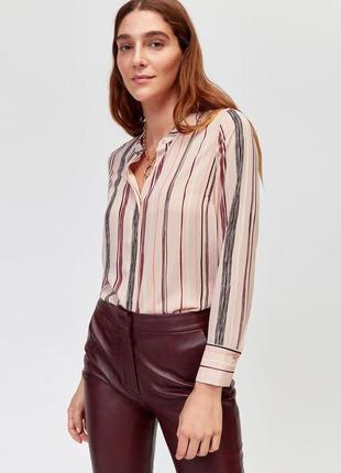 Пыльно розовая блуза в полоску zara zara