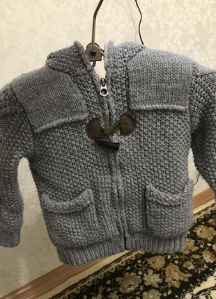 Вязаная куртка для модника