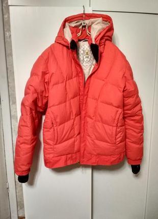 Супер теплая лыжная пуховая куртка helly hansen