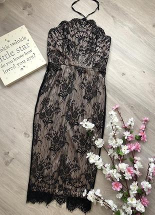 Шикарное кружевное платье футляр, платье облегающее,