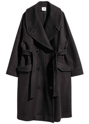 Роскошное шерстяное пальто h&m studio