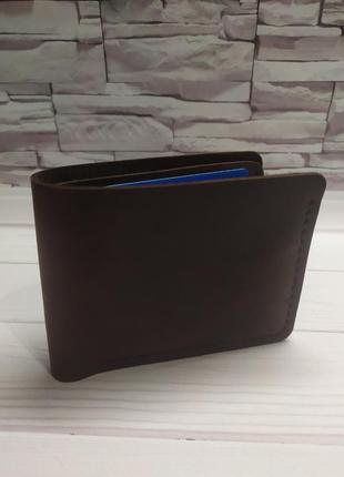Мужской кожаный портмоне, кошелёк