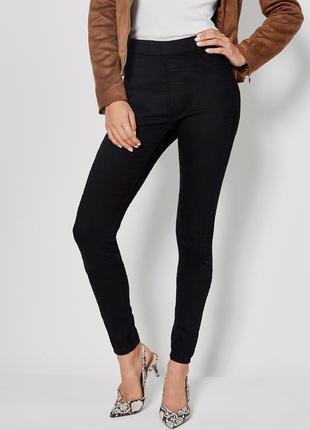 Джинсовые легинсы, джинсы скинни скини на резинке с высокой посадкой