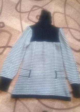 Терлый вязаный свитер под горло