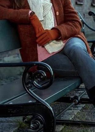 Итальянские,шерстяные перчатки manzani.размер s.новые