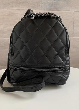 Стильный кожаный рюкзак сумка италия сумка шкіряна