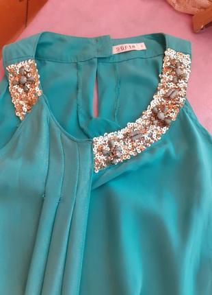 Платье шифоновое,нарядное,паетки