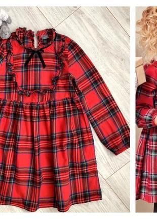 Продано класссное платье шотландка в клетку 5 6 7 лет