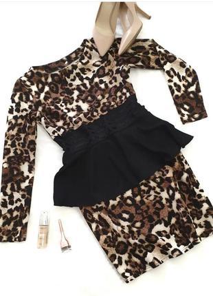 Трендовое леопардовое платье баска