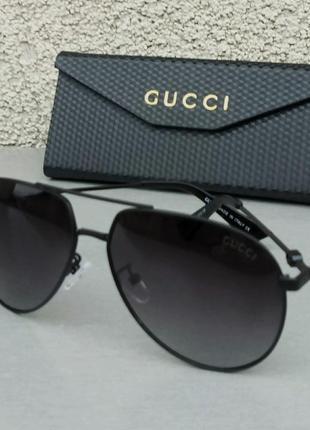Gucci очки капли унисекс солнцезащитные черные поляризированые