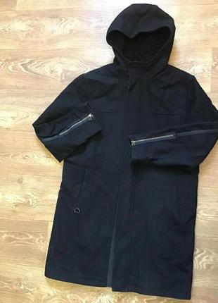 Мужское пальто с капюшоном river island l