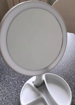 Круглое зеркало с led подсветкой  и с увеличением.читайте описание.