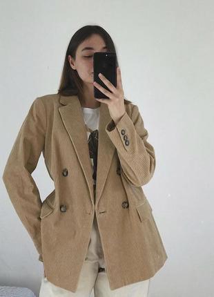 Пиджак вельветовый h&m