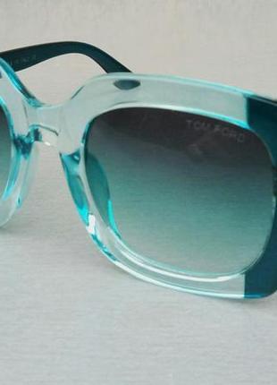 Tom ford очки женские солнцезащитные большие квадратные бирюзово голубые