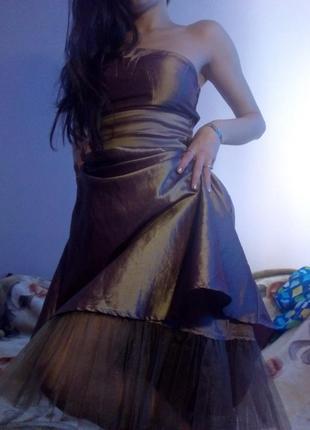 Платье хамелеон с фатином