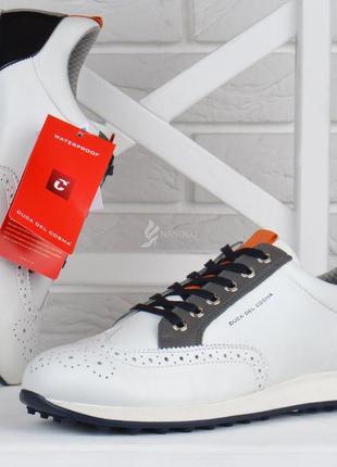 Кроссовки мужские кожаные duca del cosma waterproof португалия белые